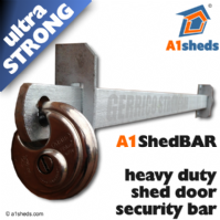 A1 ShedBAR™ Shed Door Security Bar